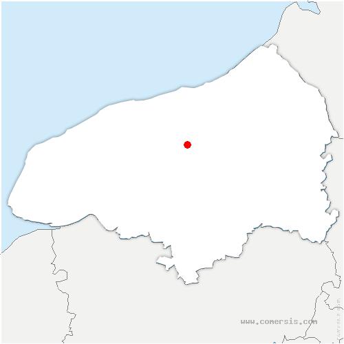 carte de localisation de Beauval-en-Caux