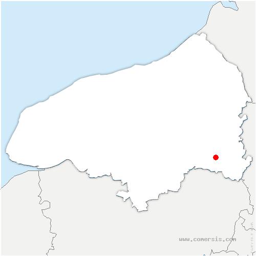 carte de localisation de Beauvoir-en-Lyons