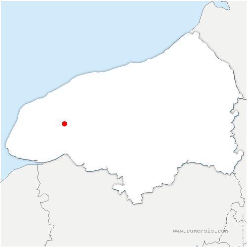 carte de localisation de Bernières