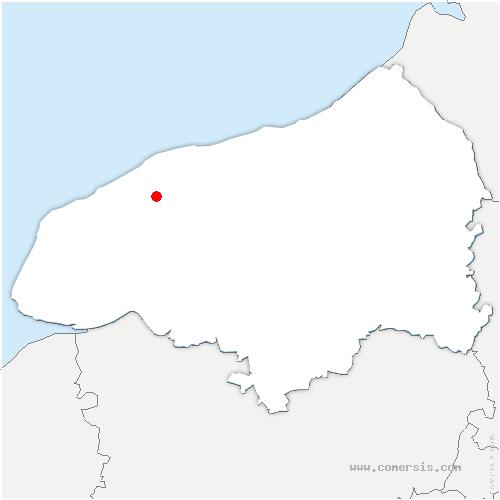 carte de localisation de Bertheauville