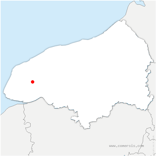 carte de localisation de Beuzeville-la-Grenier