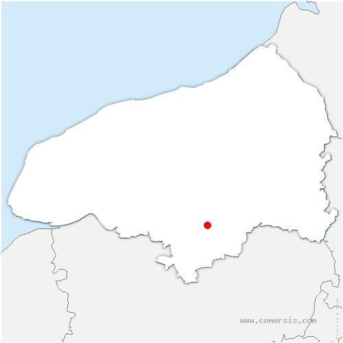 carte de localisation de Bihorel