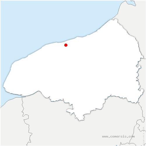 carte de localisation de Blosseville