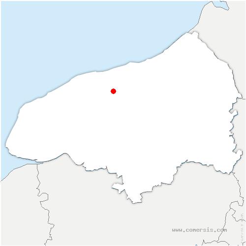 carte de localisation de Bourville