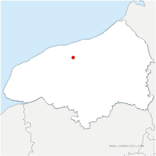 carte de localisation de Brametot