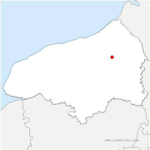 carte de localisation de Bures-en-Bray