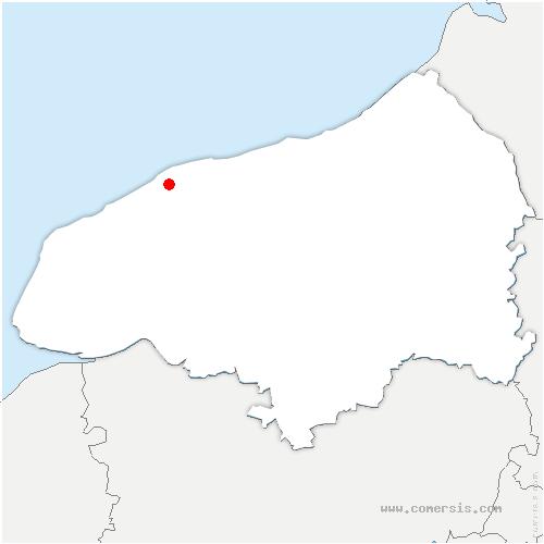 carte de localisation de Butot-Vénesville