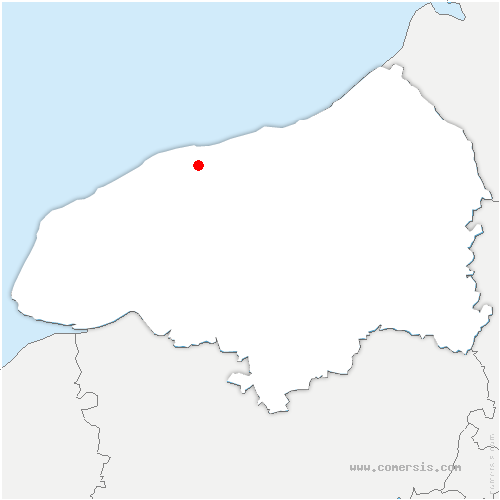 carte de localisation de Cailleville