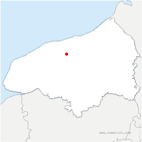 carte de localisation de Canville-les-Deux-Églises