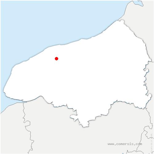 carte de localisation de Cany-Barville