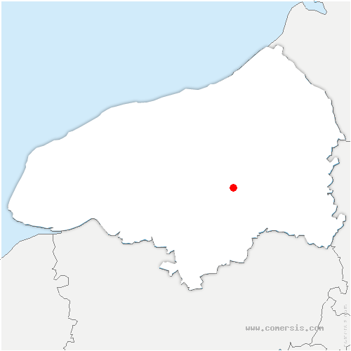 carte de localisation de Claville-Motteville