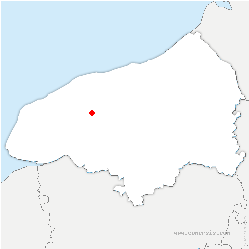 carte de localisation de Cliponville