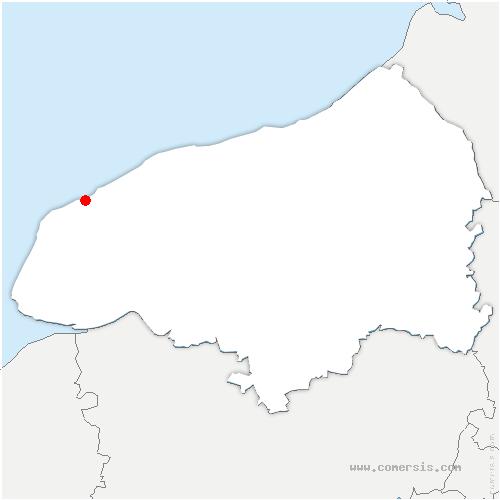 carte de localisation de Criquebeuf-en-Caux