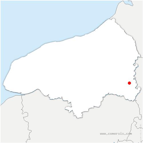 carte de localisation de Dampierre-en-Bray