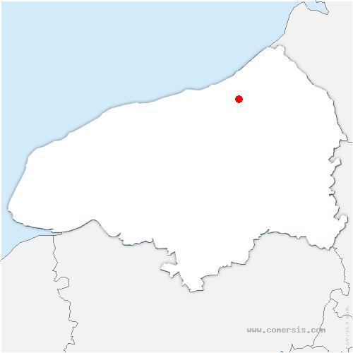 carte de localisation de Envermeu