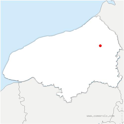 carte de localisation de Fesques