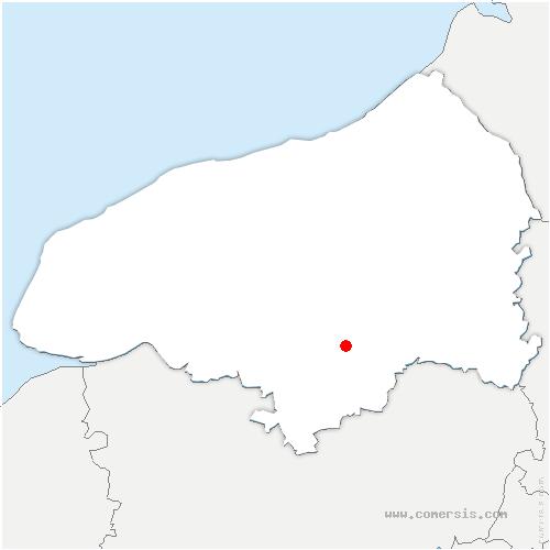 carte de localisation de Fontaine-sous-Préaux