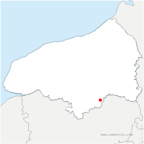 carte de localisation de Fresne-le-Plan