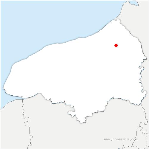 carte de localisation de Fresnoy-Folny