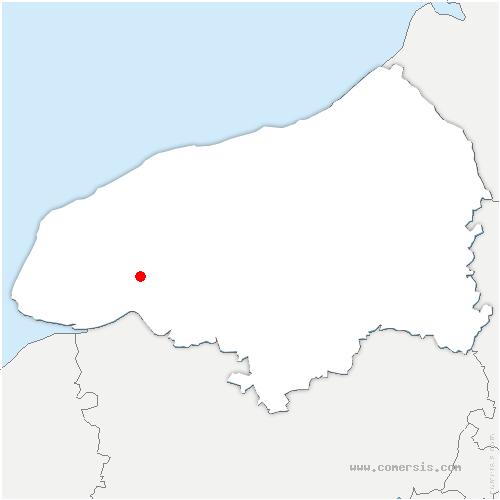 carte de localisation de Gruchet-le-Valasse