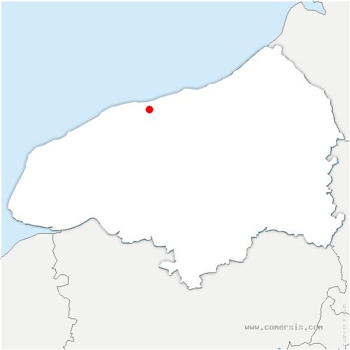 carte de localisation de Gueutteville-les-Grès