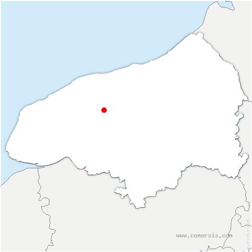 carte de localisation de Harcanville