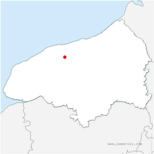 carte de localisation de Hautot-l'Auvray