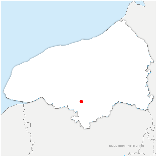 carte de localisation de Hénouville