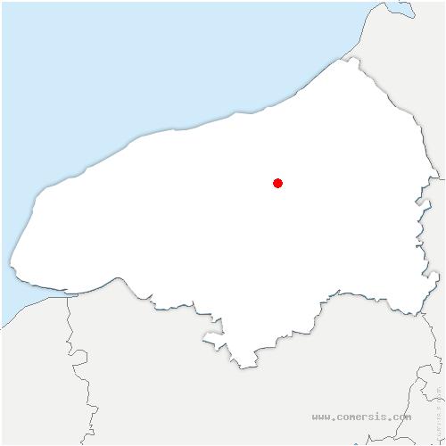 carte de localisation de Heugleville-sur-Scie