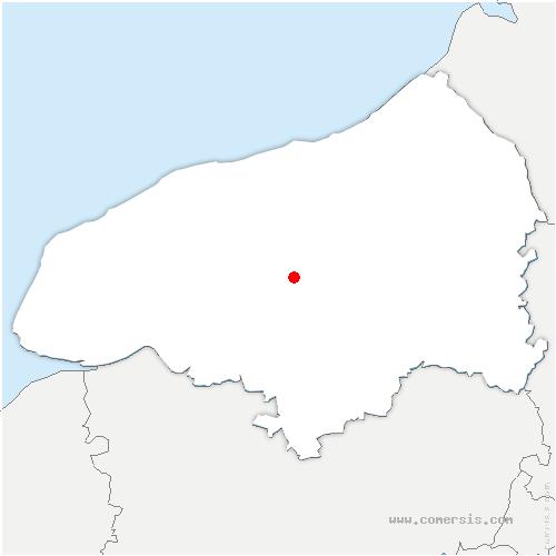 carte de localisation de Hugleville-en-Caux