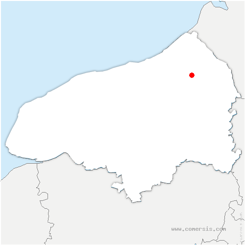 carte de localisation de Londinières
