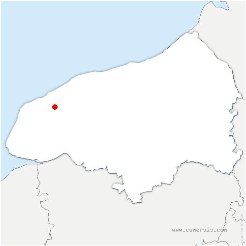 carte de localisation de Mentheville