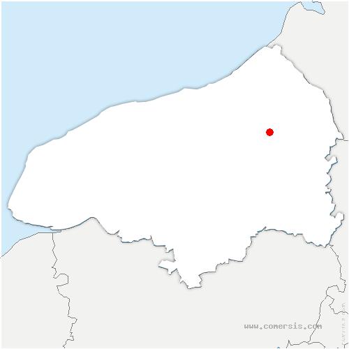 carte de localisation de Mesnières-en-Bray