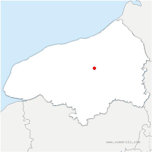 carte de localisation de Montreuil-en-Caux