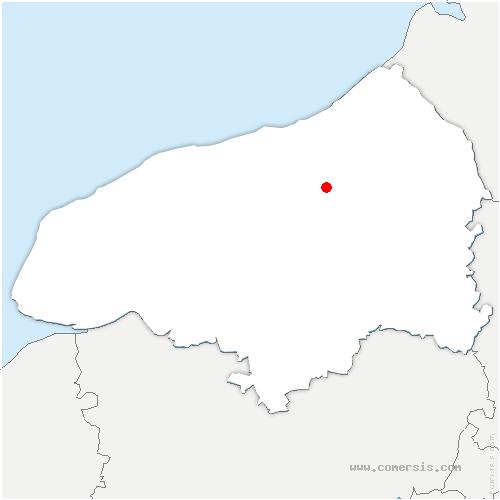 carte de localisation de Muchedent