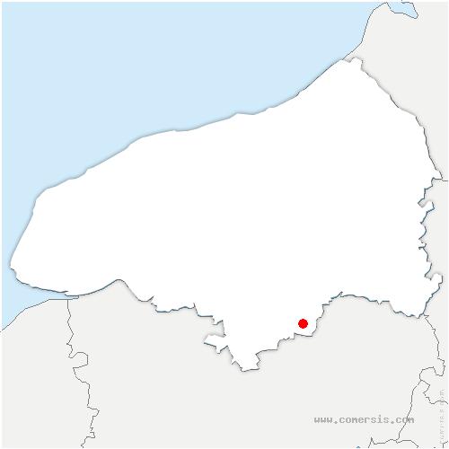 carte de localisation de Neuville-Chant-d'Oisel