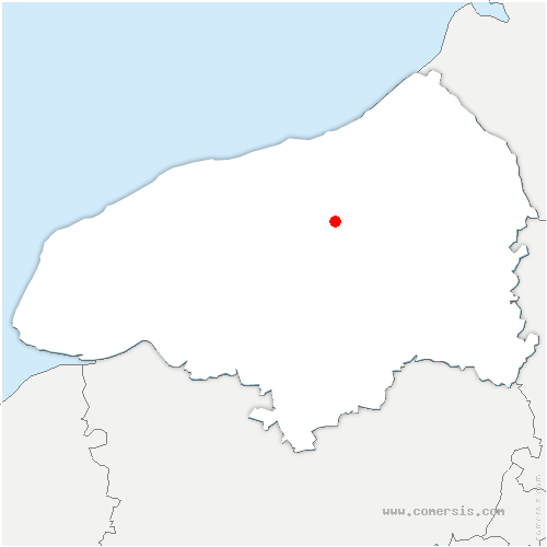 carte de localisation de Notre-Dame-du-Parc