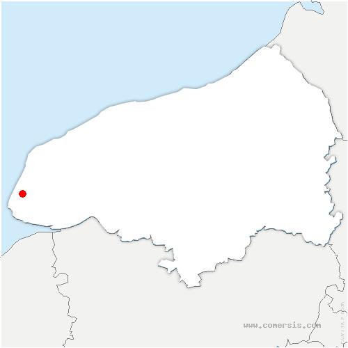 carte de localisation de Octeville-sur-Mer