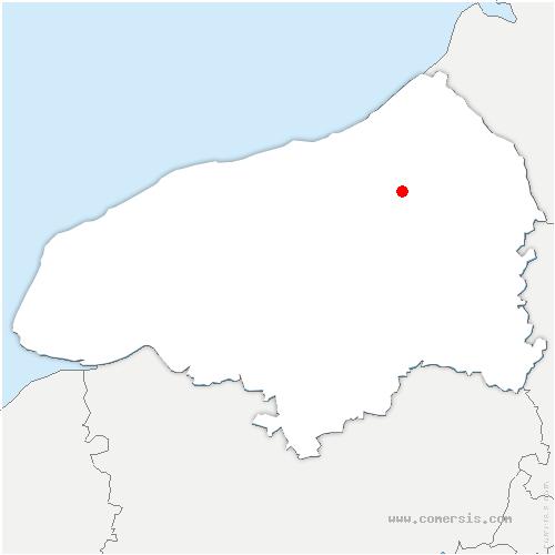 carte de localisation de Osmoy-Saint-Valery