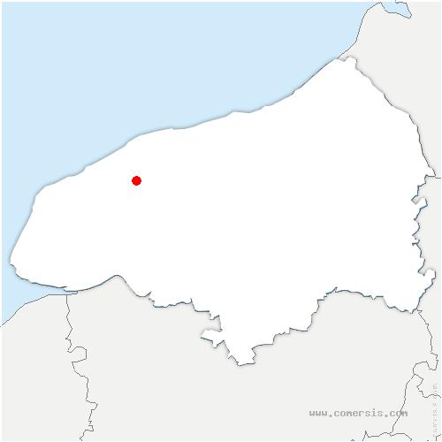 carte de localisation de Ourville-en-Caux