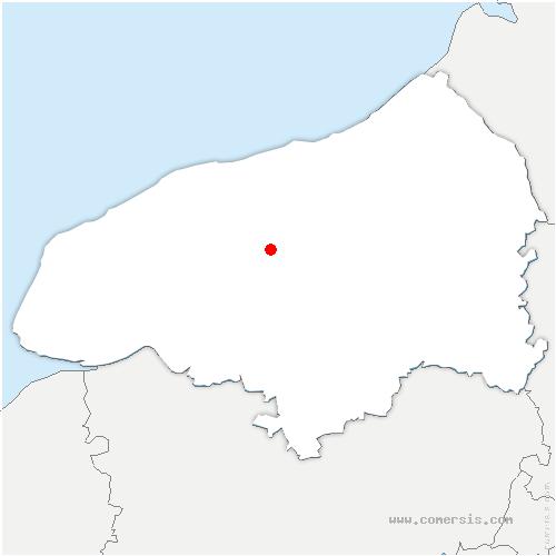 carte de localisation de Ouville-l'Abbaye