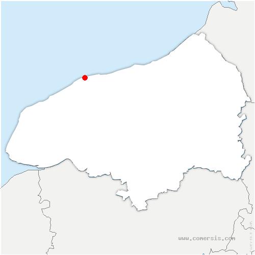 carte de localisation de Paluel