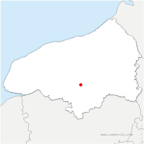 carte de localisation de Pissy-Pôville