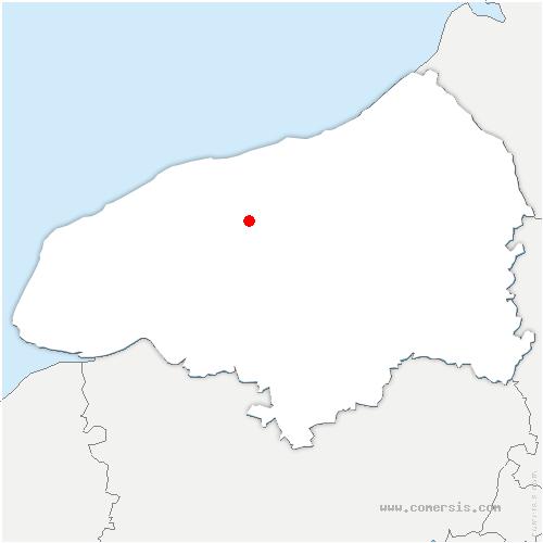 carte de localisation de Prétot-Vicquemare