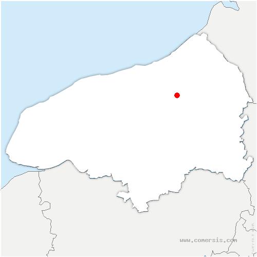 carte de localisation de Ricarville-du-Val