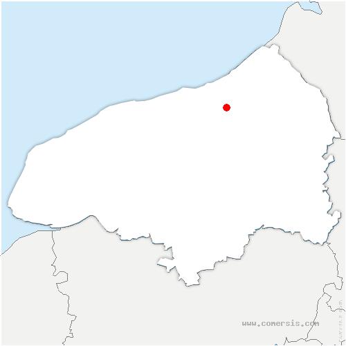 carte de localisation de Saint-Aubin-le-Cauf