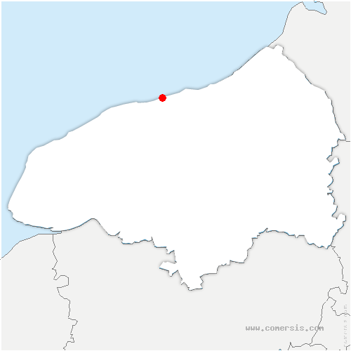 carte de localisation de Saint-Aubin-sur-Mer