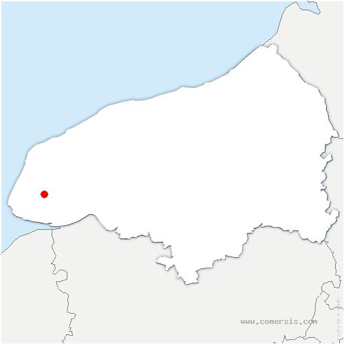 carte de localisation de Saint-Laurent-de-Brèvedent