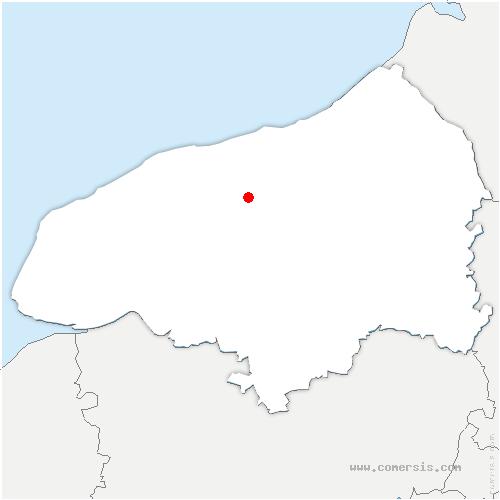 carte de localisation de Saint-Laurent-en-Caux