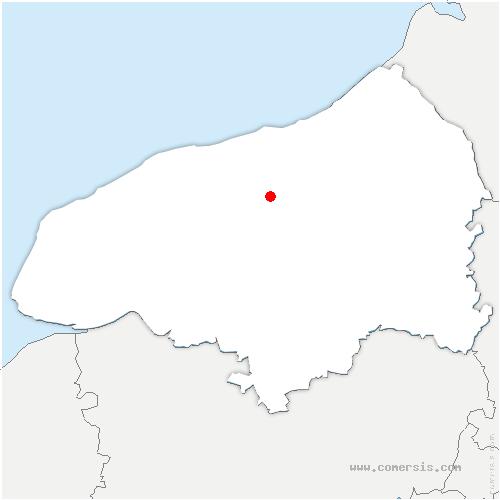 carte de localisation de Saint-Mards